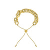 GLOW SOCIETY Link Collection - Textured 14K Gold Plated Chain Bracelet - GEMOUR