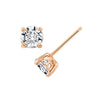 Gemour Sterling Silver 1 ct Round Cubic Zirconia Stud Earrings - GEMOUR