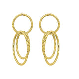 GLOW SOCIETY Hoop Stack Collection - Multi Circles Geometric Dangle Earrings - GEMOUR