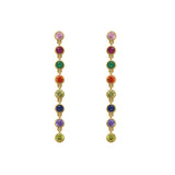 GLOW SOCIETY Shades of Rainbow Collection - Station Chain Earrings - GEMOUR