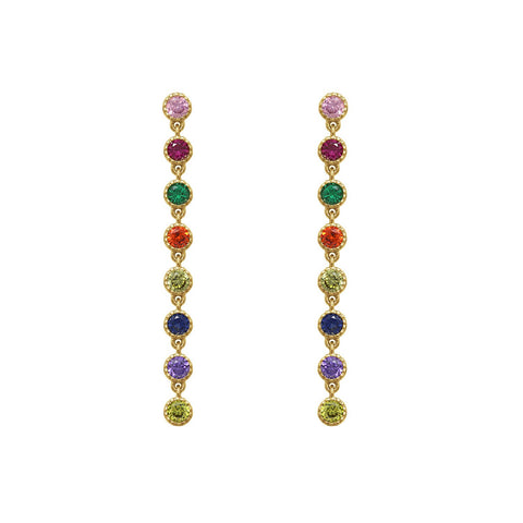 GLOW SOCIETY Evil Eye, Hamsa Collection - Swarovski Crystal & Sapphire Hamsa Stud Earrings