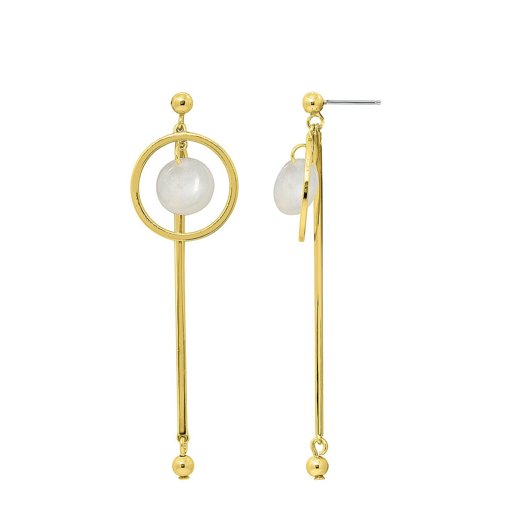 GLOW SOCIETY Bohemian Jive Collection - Hammered Dangle Earrings - GEMOUR
