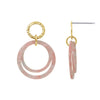 GLOW SOCIETY Bohemian Jive Collection - Hammered Double Pink Stud Earrings - GEMOUR