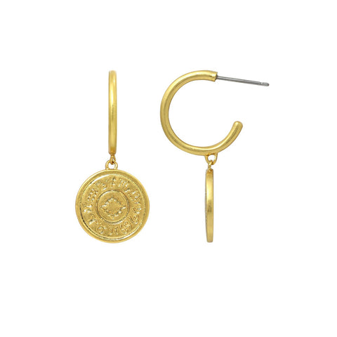 GLOW SOCIETY Atelier Disks Collection - Hammered Organic Shaped Hoop Earrings