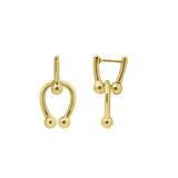 GLOW SOCIETY Atelier Disks Collection - Linked Mini Dobule Horseshoe Dangle Earrings - GEMOUR