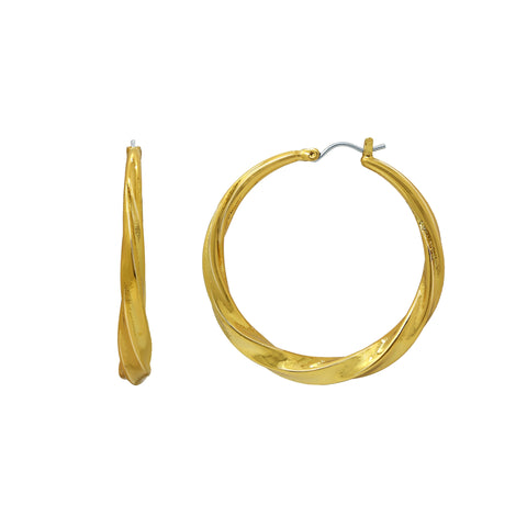 GLOW SOCIETY ATELIER DISKS COLLECTION - Chunky Half-Hoop Post-Back Earrings