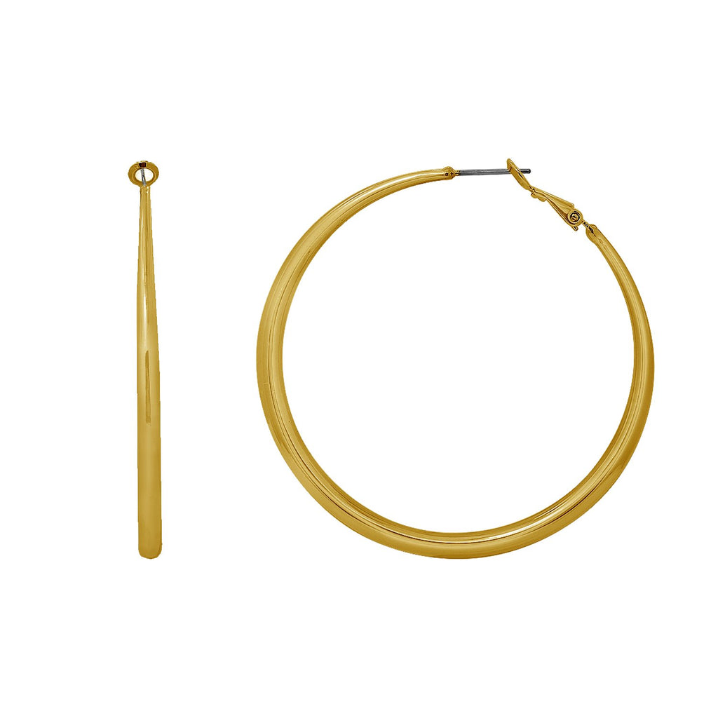 GLOW SOCIETY Atelier Disks Collection - Thinner Hoop Earrings - GEMOUR