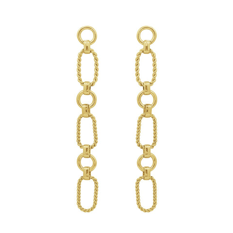 6TH AVE Link Collection - Textured 14K Gold Plated Chain Chocker Necklace