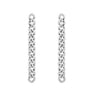 GLOW SOCIETY Link Collection - Boyfriend Silver Long Chain Earrings - GEMOUR