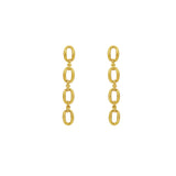 GLOW SOCIETY Link Collection - Open Link 14K Gold Plated Long Earring - GEMOUR