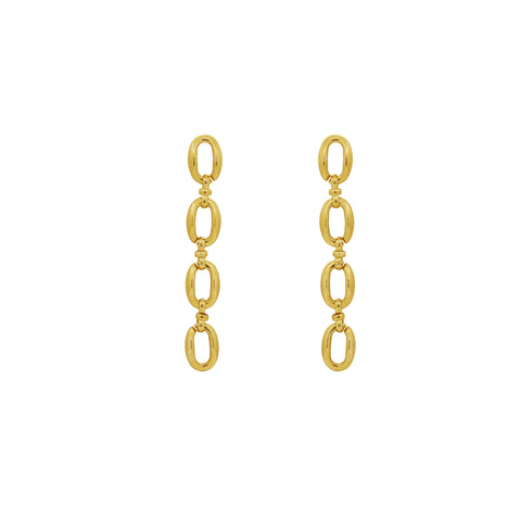 GLOW SOCIETY Link Collection - Boyfriend Silver Long Chain Earrings