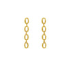 6TH AVE Link Collection - Open Link 14K Gold Plated Long Earring - GEMOUR