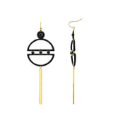 GLOW SOCIETY MODERN GEOMETRY COLLECTION - 14K Gold Plated Demi-circle Crystal Earrings - GEMOUR