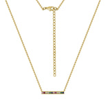 GLOW SOCIETY Shades of Rainbow Collection - Bar Pendant Necklace - GEMOUR