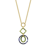 GLOW SOCIETY Bohemian Jive Collection - Geometric Multicolor Blocks Necklace - GEMOUR