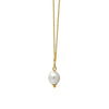 GLOW SOCIETY Curvilinear Forms Collection - Necklace with Organic Shaped Pendant & Pearl - GEMOUR