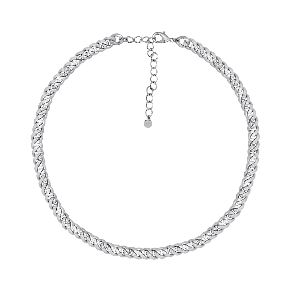 GLOW SOCIETY Link Collection - Boyfriend Silver Chain Necklace - GEMOUR