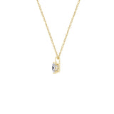 Gemour Sterling Silver 1 ct Princess Cubic Zirconia Solitaire Necklace - GEMOUR