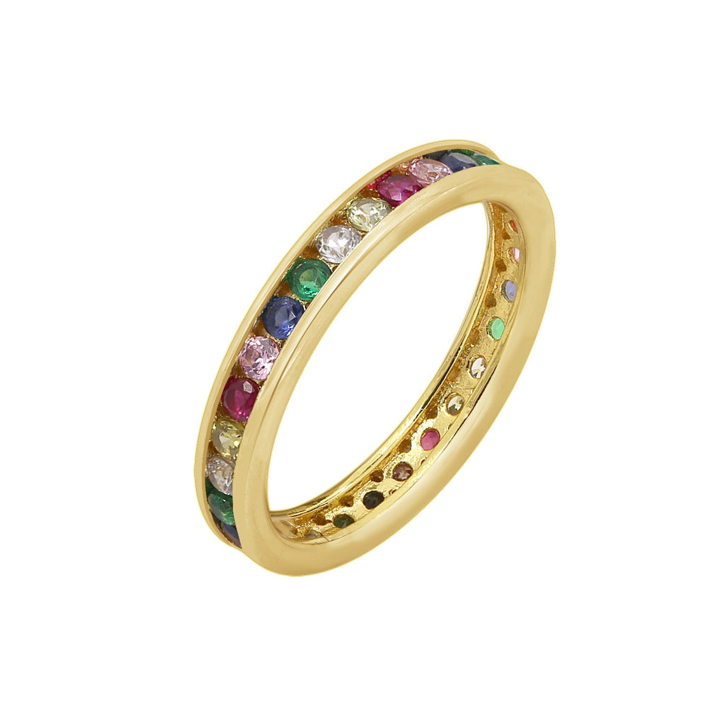 GLOW SOCIETY Shades of Rainbow Collection - Eternity Ring - GEMOUR