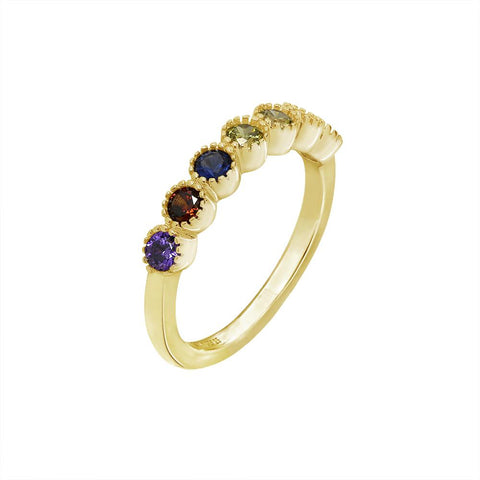 GLOW SOCIETY Evil Eye, Hamsa Collection - Evil Eye Swarovski Crystal & Sapphire Ring with Pearl