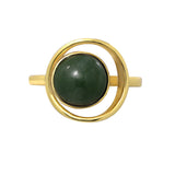 GLOW SOCIETY Bohemian Jive Collection - Jade Ring - GEMOUR