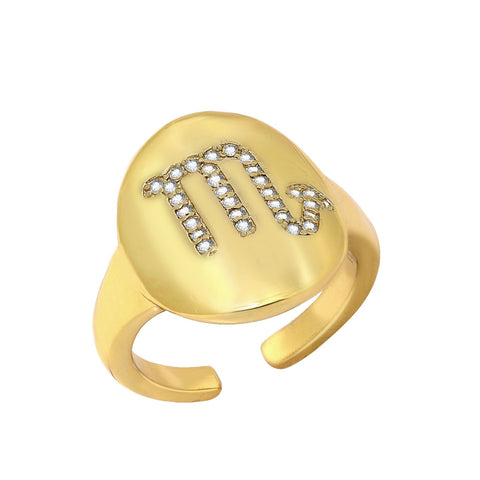 GLOW SOCIETY Curvilinear Forms Collection - Three Shapes Stacked Ring with Zirconia