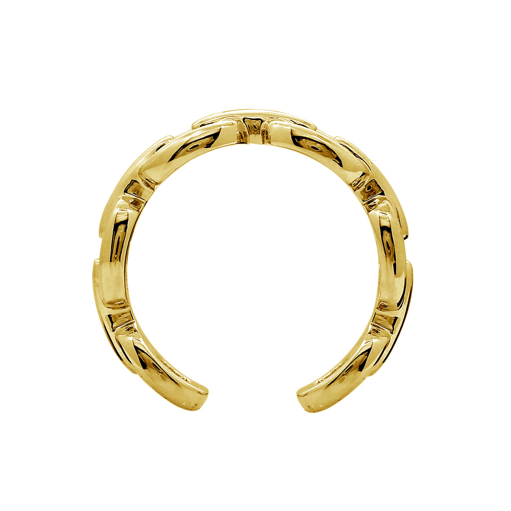 GLOW SOCIETY Link Collection - Open Link Silver or 14K Gold Plated Chain Ring - GEMOUR