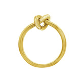 GLOW SOCIETY WIRE COLLECTION - 14K Gold Plated Love Knot Ring - GEMOUR