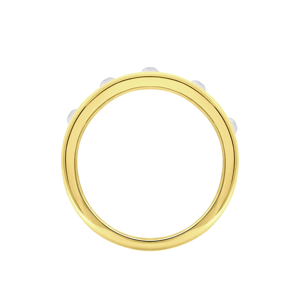 GLOW SOCIETY MODERN GEOMETRY COLLECTION - 14K Gold Plated Linear with Crystal Ring - GEMOUR