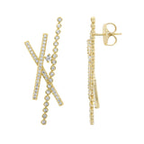 Kiera New York Crisscross Stud Earrings - GEMOUR