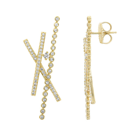 BAGUETTE CASCADE EARRINGS