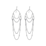 GLOW SOCIETY Chandelier Collection - Multiple Chain Dangle Earrings - GEMOUR