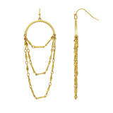 GLOW SOCIETY Chandelier Collection - Fringe Chain Dangle Earrings - GEMOUR