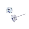 Kiera Couture 8mm clear asscher cut stud earring - GEMOUR