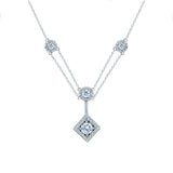 Kiera Couture PAVE SQUARE Y DROP NECKLACE - GEMOUR
