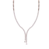 Kiera Couture Gala Stone Drop Tennis Style Y Necklace - GEMOUR