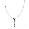 Kiera Couture Sapphire Oval Drop Tennis Statement Necklace - GEMOUR