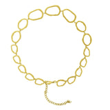 GLOW SOCIETY Curvilinear Forms Collection - Organic Shape Link Chocker Necklace - GEMOUR