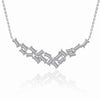 KIERA COUTURE Princess Baguette Sterling Silver Necklace - GEMOUR