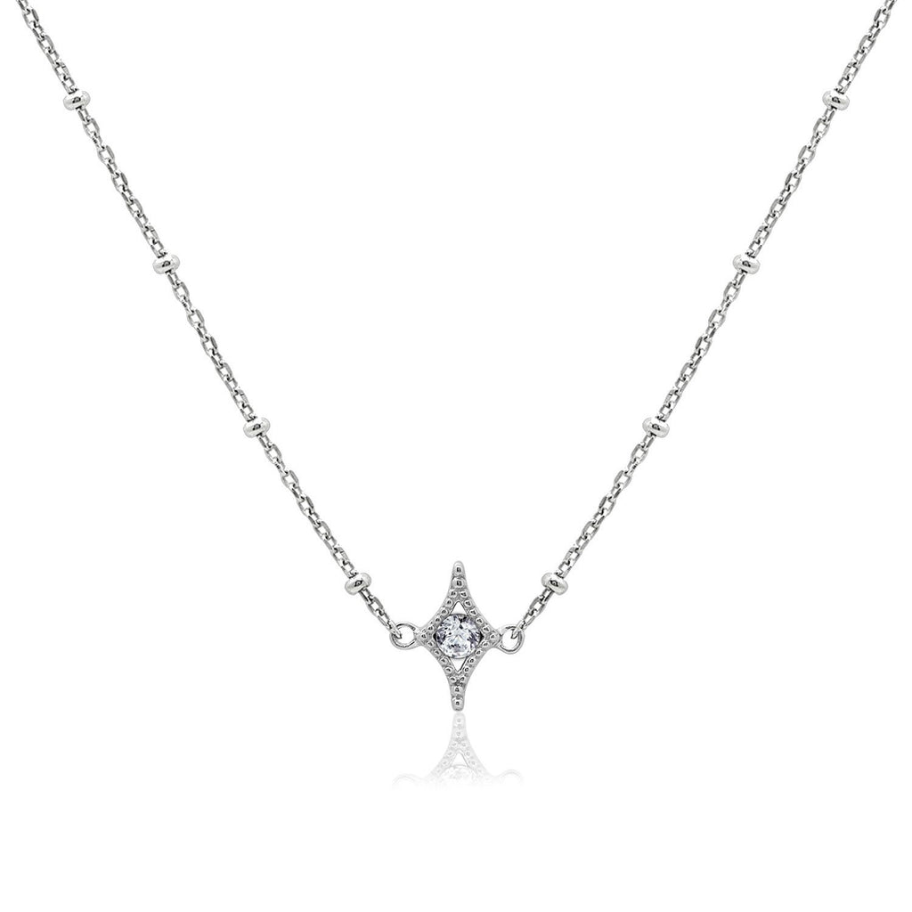 Couture Pave Star Pendant Necklace - GEMOUR