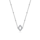 Couture Pave Open Marquise Cut Pendant Necklace - GEMOUR