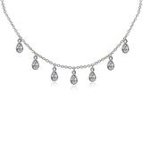 J'ADMIRE Cubic Zirconia Station Necklace - GEMOUR