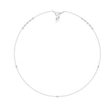 KIERA Imitation Rhodium Clad Brass Round Cubic Zircornia Station Mask Chain, 27