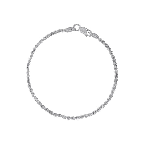 KIERA VENEZIA Sterling Silver Glitter Chain Necklace