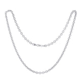 KIERA VENEZIA Sterling Silver Cable Chain Necklace - GEMOUR