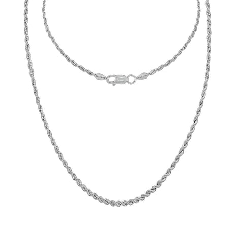 Gemour Sterling Silver 3 ct Round Cubic Zirconia Solitaire Necklace
