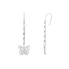 KIERA VENEZIA Sterling Silver Hollow Butterfly Dangle Earrings - GEMOUR