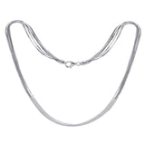 KIERA VENEZIA Sterling Silver Multistrand Snake and Ball Chain Necklace, 18