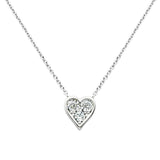 Mini Pavé Heart Pendant Necklace - GEMOUR