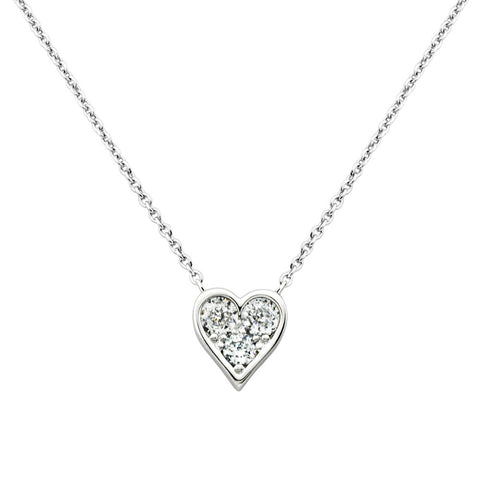 Timeless Hearts' Swarovski Pure Brilliance Pink Heart Pendant Necklace, 18""